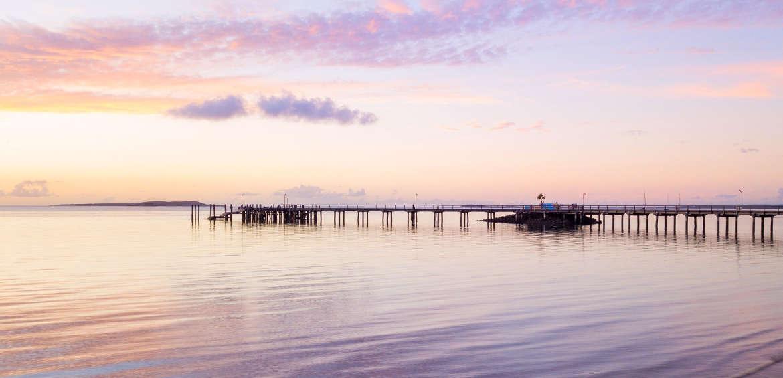 Kingfisher Bay Resort, Fraser Island, Wharf, Sunset