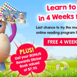 Ends soon: Four-week trial of ABC Reading Eggs