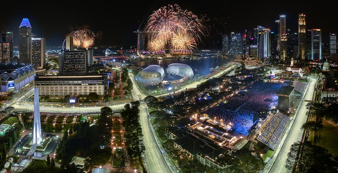 Festivities kick into high gear as the fireworks go off and the post race concert at the Padang stage headlined by Martin Garrix begins