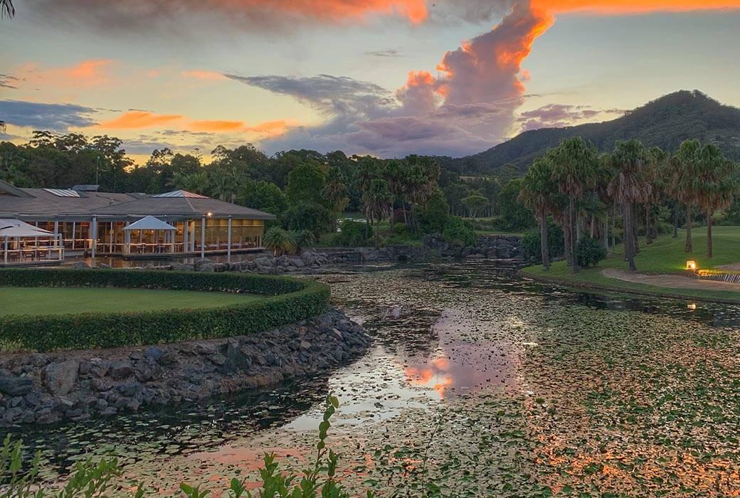 Pacific Bay Resort at dusk