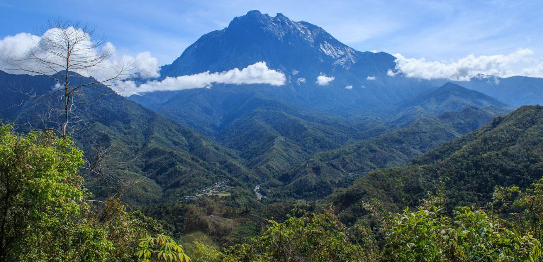 Mount Kinabalu view form Nabalu Town