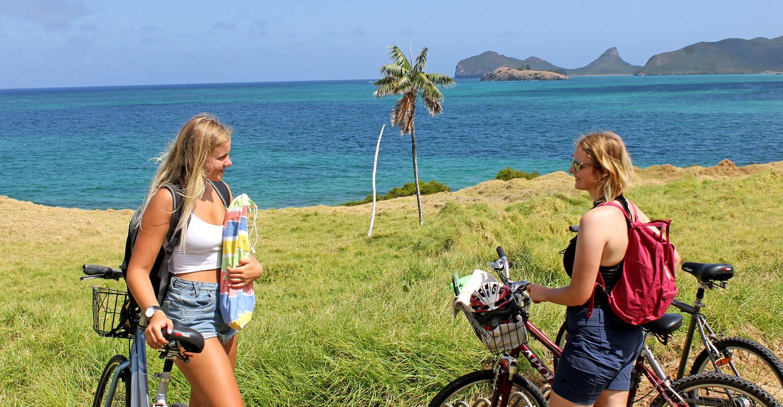 Bike riding around Lord Howe Island