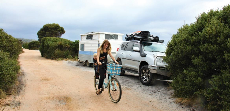 Bike riding in Tasmania