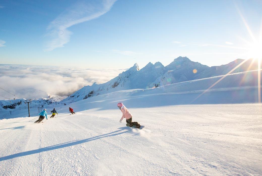 Families love skiing at Mt Ruapehu