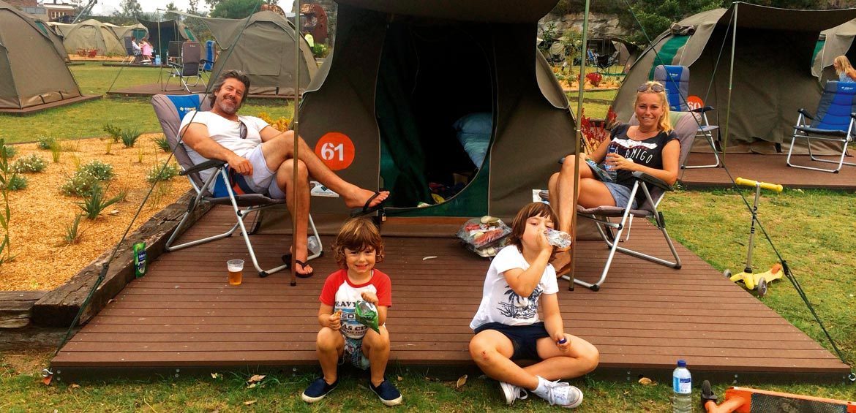 Family on Cockatoo Island