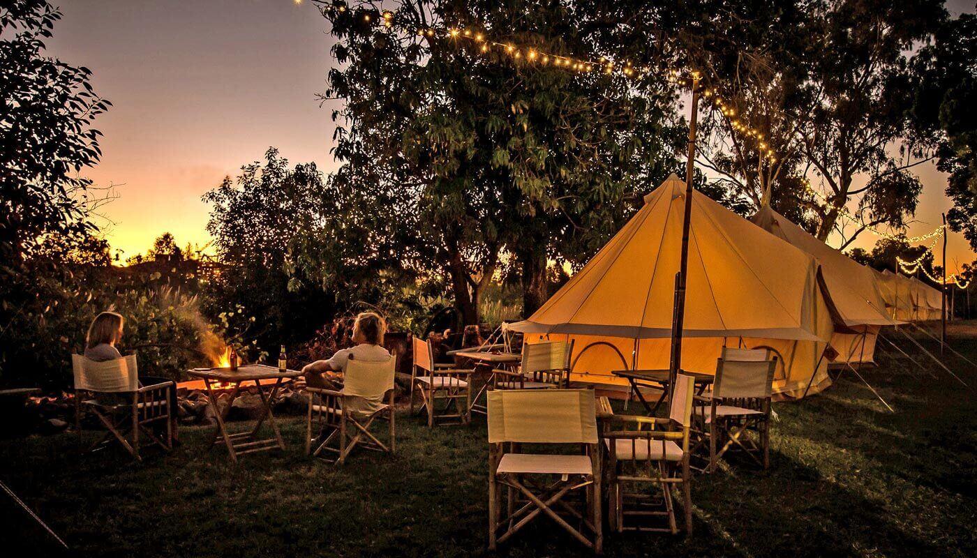 flash camp sunset