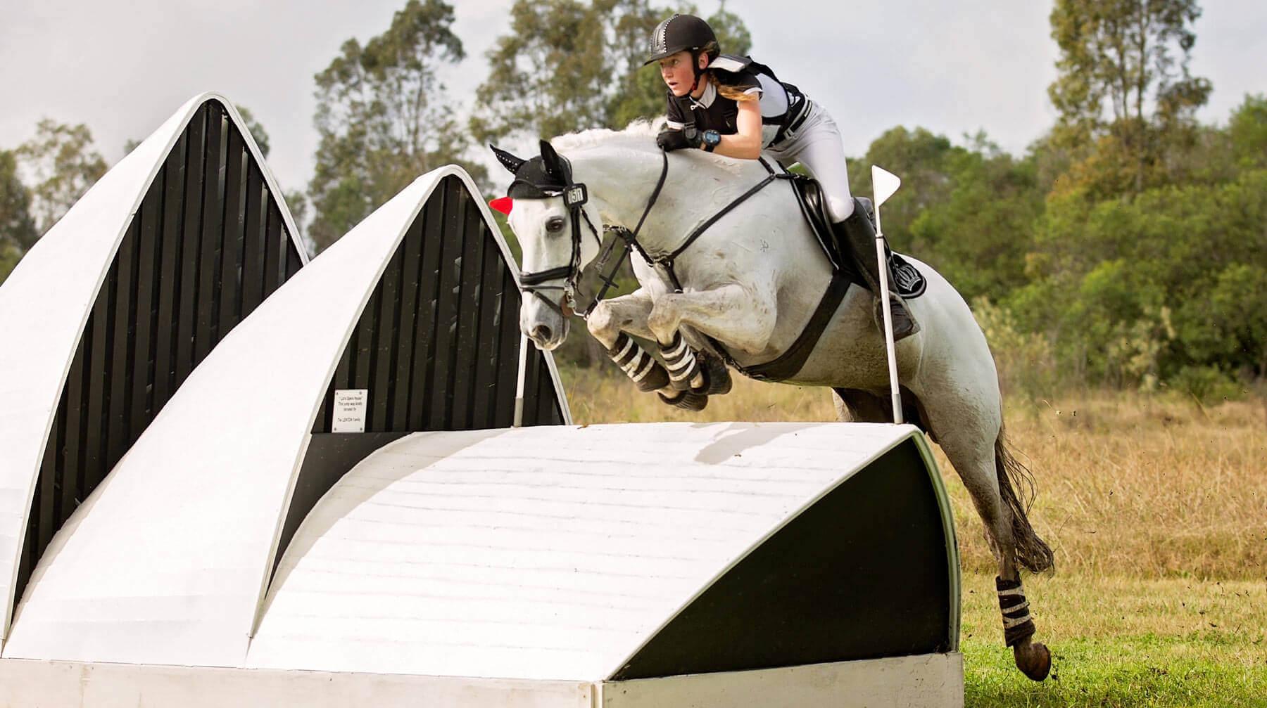 Antoinette Inglis riding for Frensham