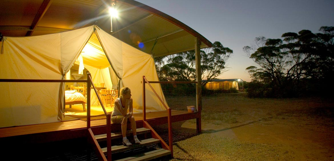 Glamping at Gawler Ranges Wilderness Safaris