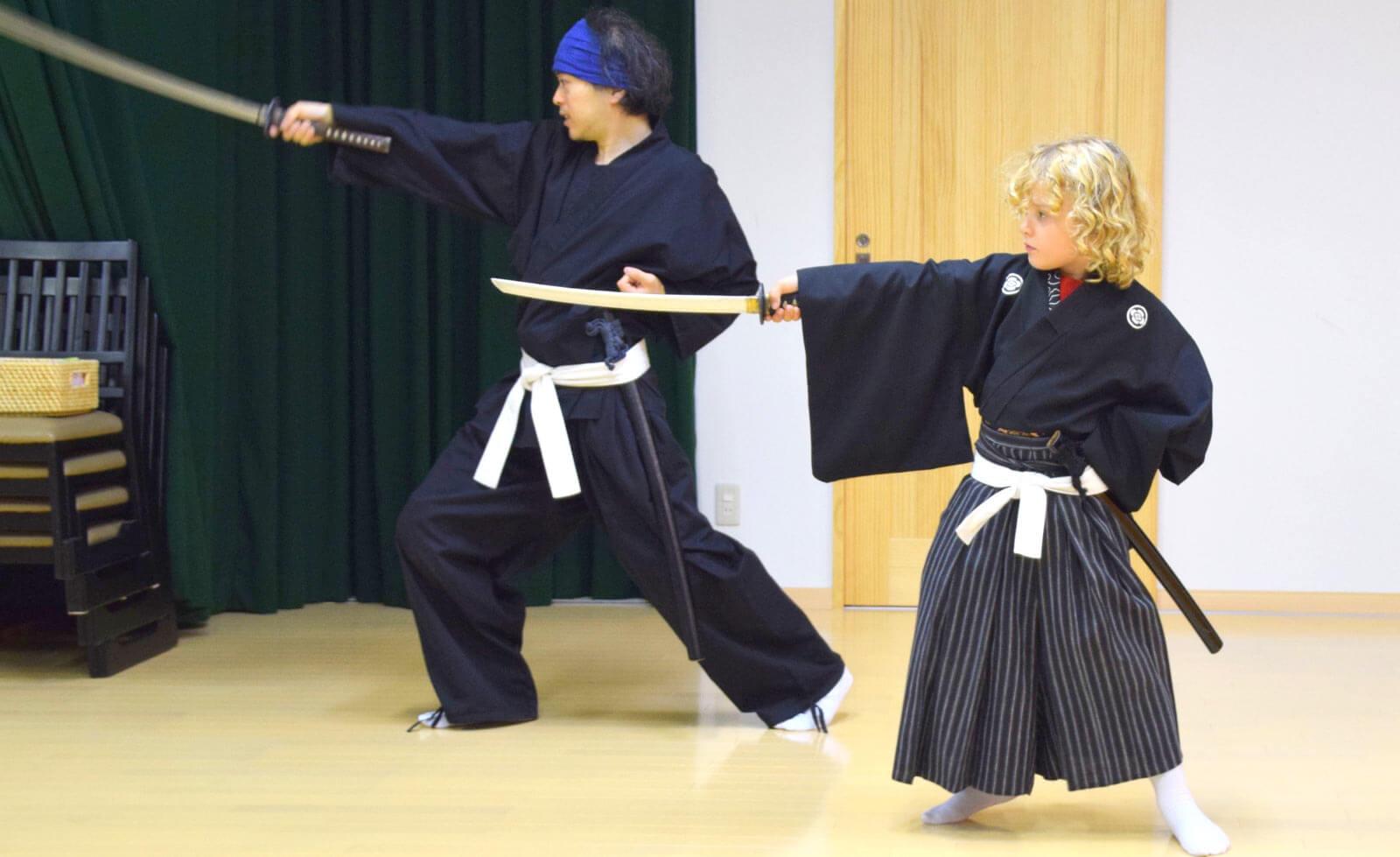 Samurai Kembu training © Aleney de Winter