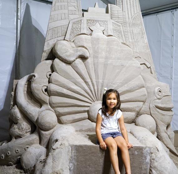 Sand Safari Arts Festival sand castle