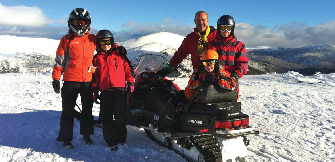 Celebrities ski: Andrew Daddo's family ski adventures have come a long way