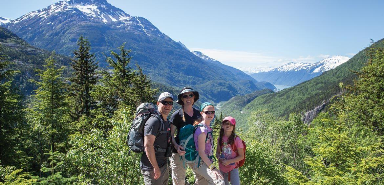 Atop an Alaskan mountain
