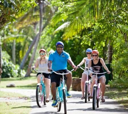 Bike riding at Shangri-La's Fijian Resort & Spa