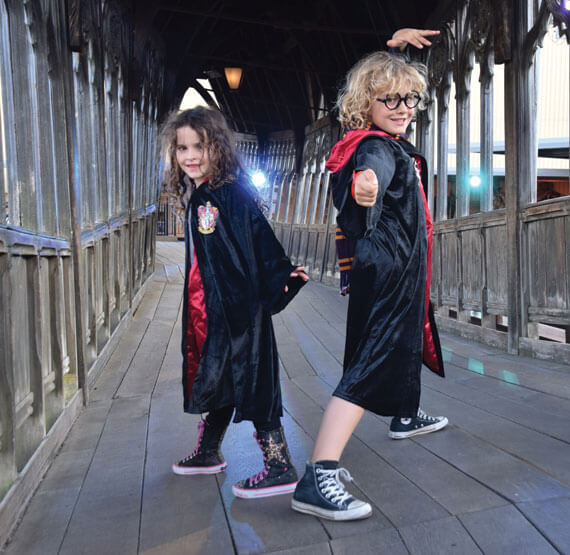 Casting spells on the Harry Potter studio tour