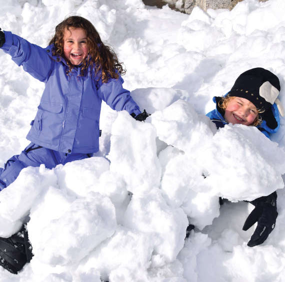 Charlotte Pass kids snow fun