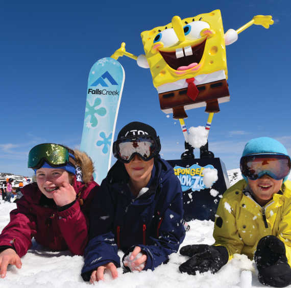 Falls Creek Spongebob lessons kids ski australia