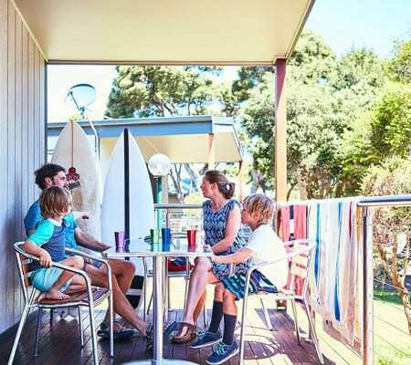 Family lunch at Anglesea Family Caravan Park