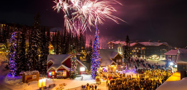 Fireworks at Big White Ski Resort