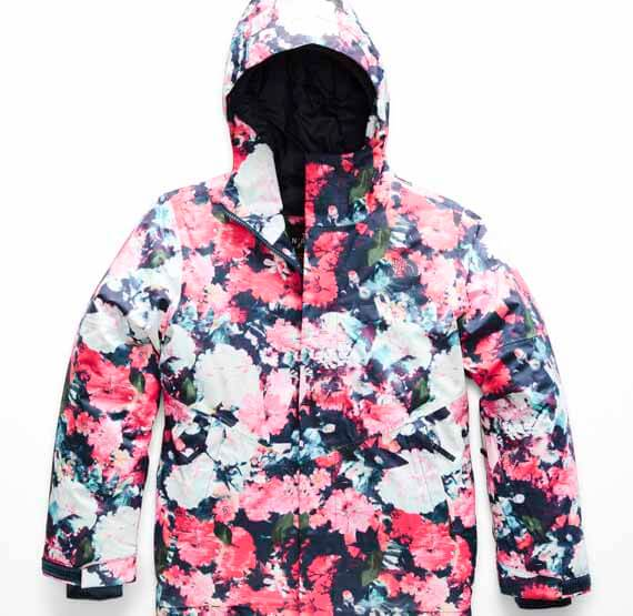 The North Face Girls' Brianna Insulated Jacket, kids snow gear