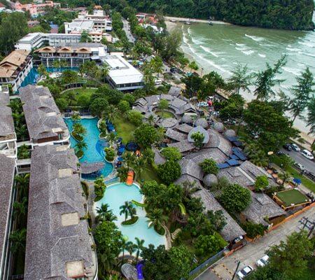 Holiday In Resort Krabi Ao Nang Beach drone view