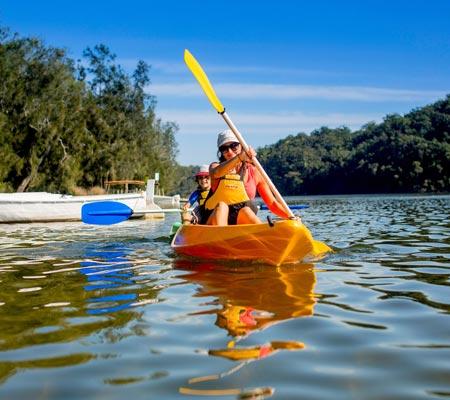 Kayaking at Lake Conjola