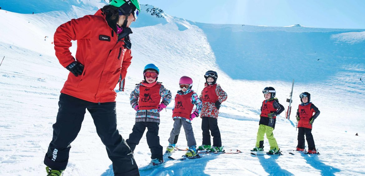 Learning to ski at Mount Hutt