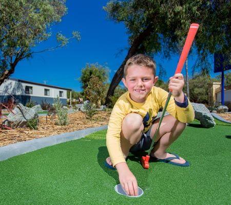 Mini golf at BIG4 Emu Beach Holiday Park