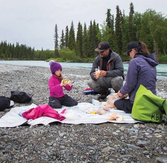 Picnic river side in Alaska