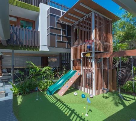 Playground at a Holiday Homes Noosa property