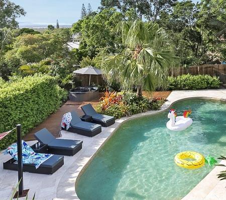 Pool at a Holiday Homes Noosa property