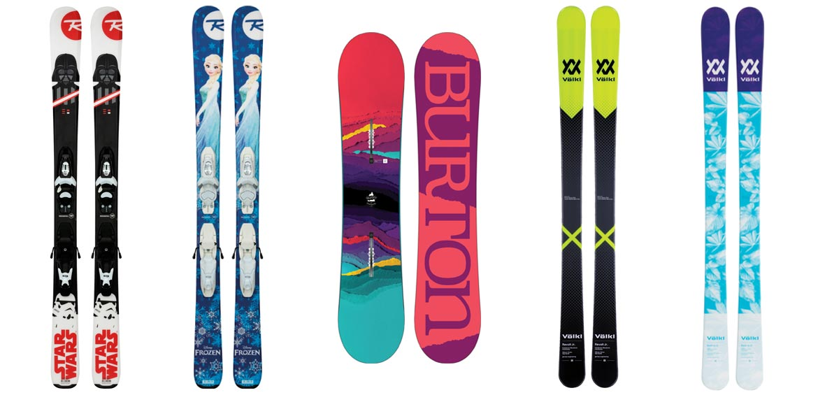 Our 5 best skis and snowboards for kids