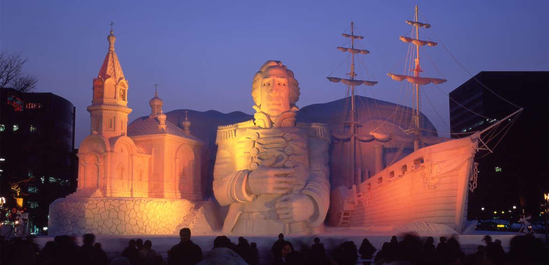 Winter festivals: Sapporo Ice Festival