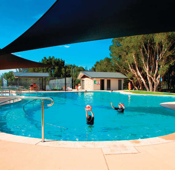 Swansea Gardens pool Lake Macquarie Holiday Parks