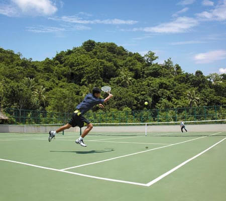 Tennis court at Shangri-La's Boracay Resort & Spa