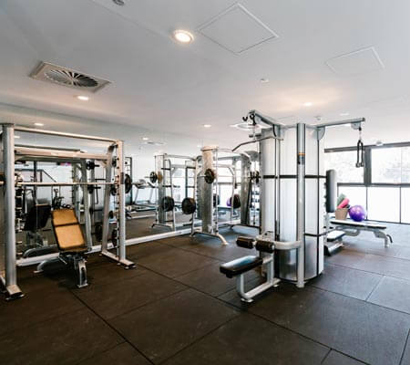 The gym at The Branksome Hotel & Residences