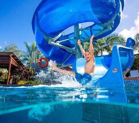 Water slide at BIG4 Gold Coast Holiday Park