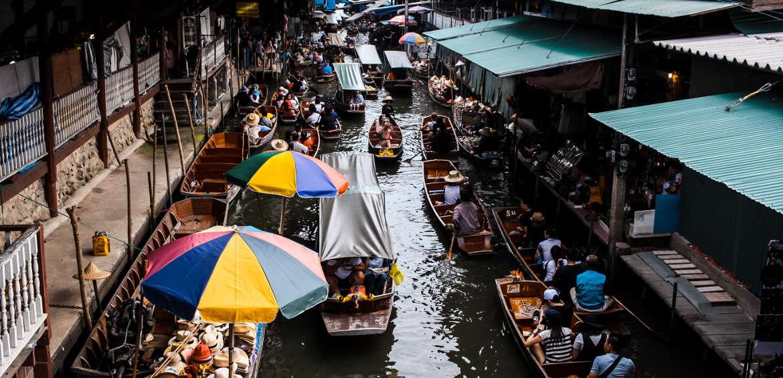 Floating markets bangkok thailand