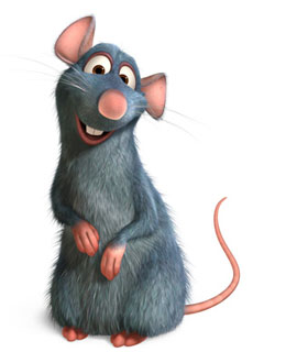 Lovable rat, Remy from Disney's Ratatouille paris movies