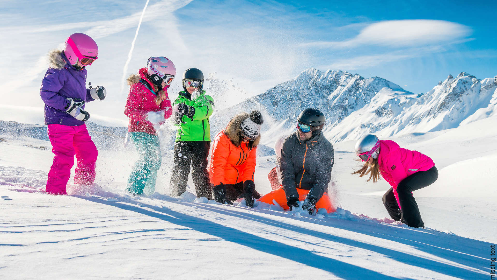 Non skier snow play at val d'isere