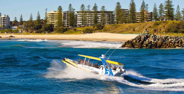 Jetting past Town Beach Port Macquarie
