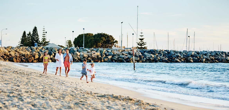 Family-friendly beaches in Perth Fremantle, Perth WA