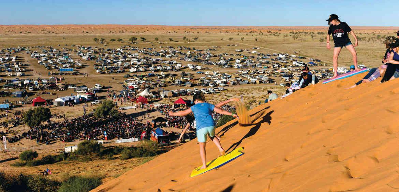sand surfing outback queensland charleville