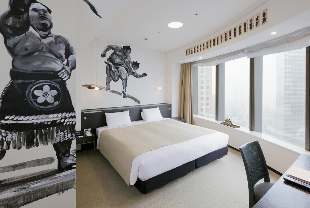 Sumo room at Park Hotel Tokyo