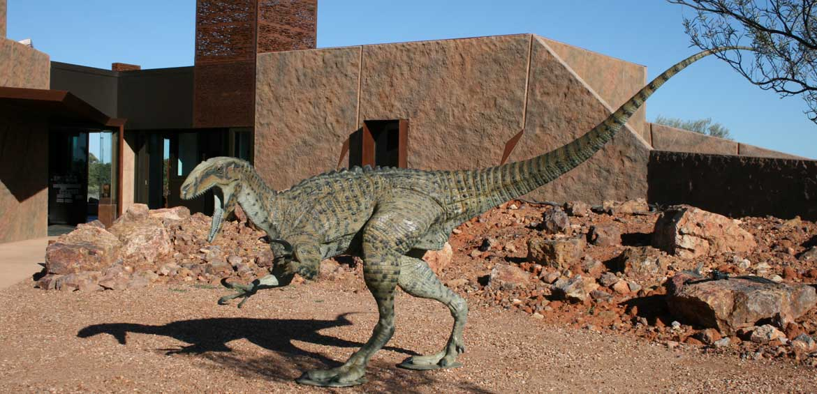 Outback Queensland for families: Dinosaur museum