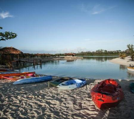 Canoeing at Aquana Beach Resort