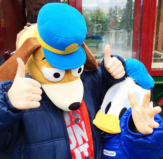 Crazy hats at Tokyo Disneyland