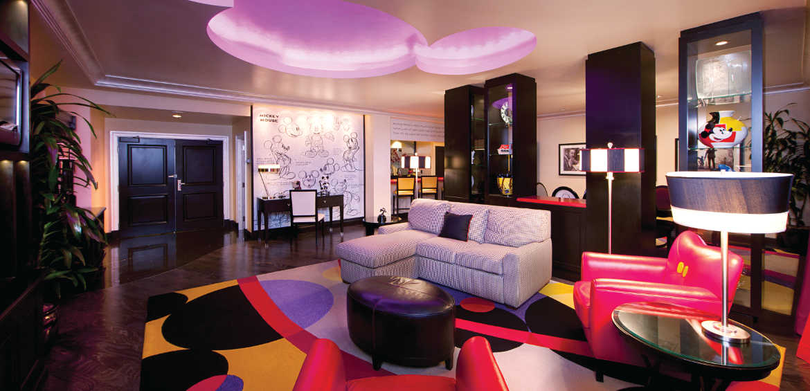 Mickey mouse penthouse disneyland themed family suites