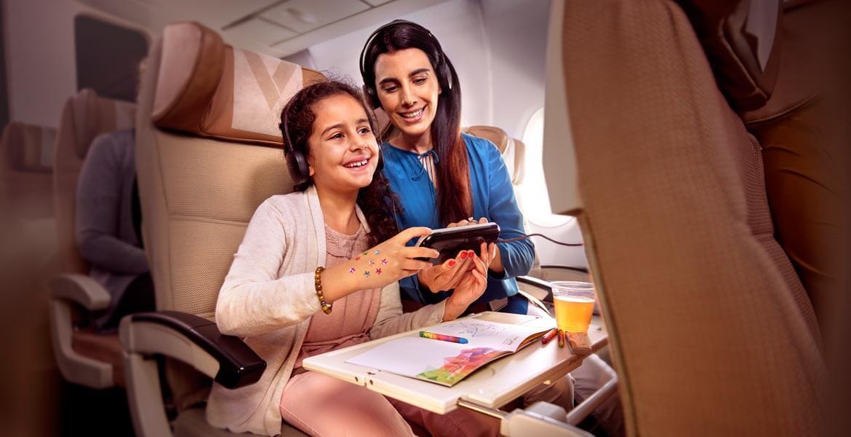 Family time onboard Etihad Airways
