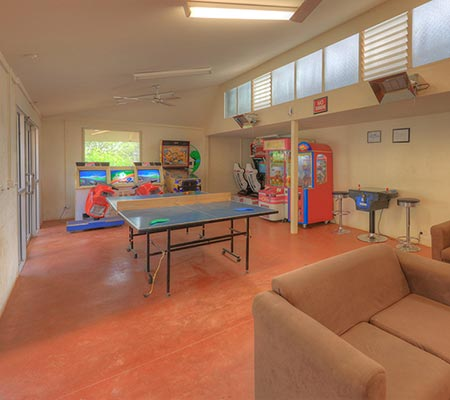 Games room at Crystal Brook Tourist Park