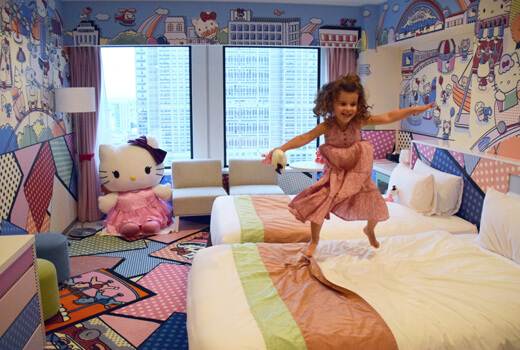 Japan family accommodation: Hello Kitty Room